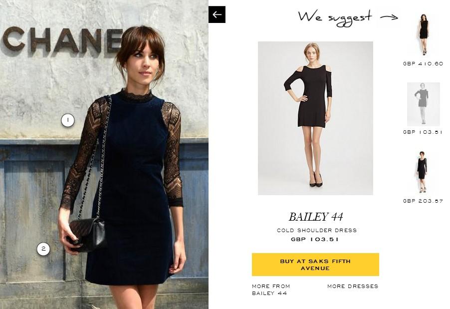 Là par exemple, ce sont les manches délicates en dentelles que l'on recherche en cliquant sur cette photo, non ? Pourquoi proposer une robe noire qui n'a rien à voir ?