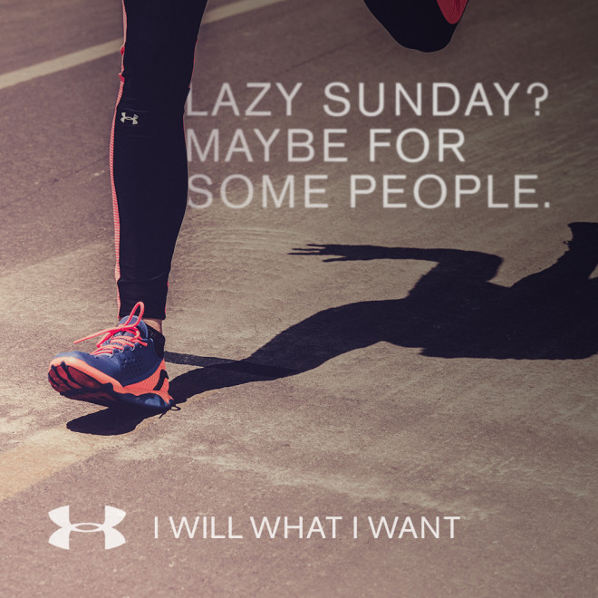 Under Armour I will what i want