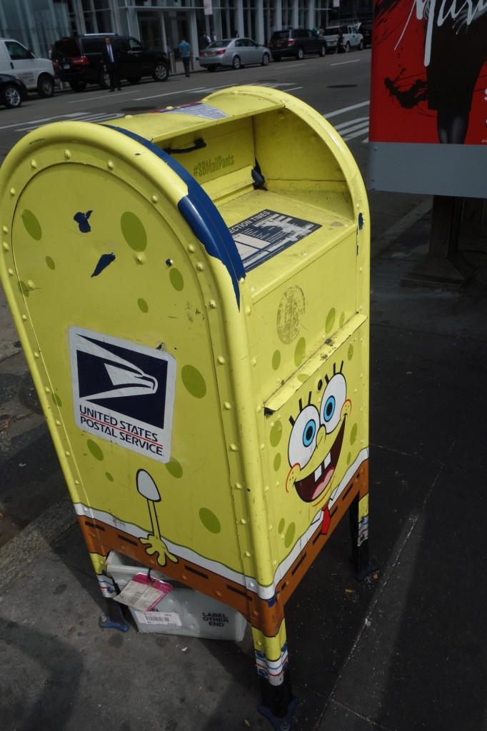 Boîte aux lettres Bob l'Eponge New York